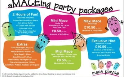 Mace Playce Party Packages