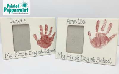 First Day at School Ceramic Photo Frames
