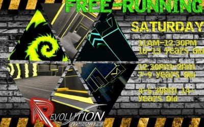 Revolution Gym Club (Free Running) Saturday 4pm