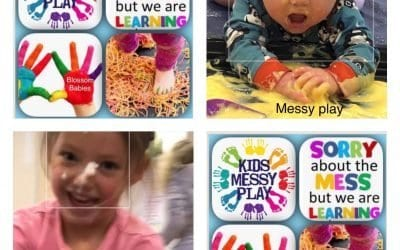 Blossom Babies family Messy Play