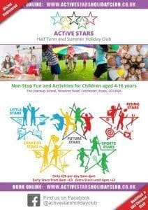 Active Stars Holiday Club Summer Holiday Kids Activities