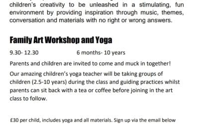 Family Art Workshop and Yoga