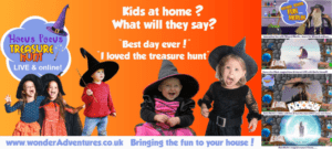 Halloween fun for your kids at home. Amazing Wizard themed fun for 2-8 year olds LIVE at home