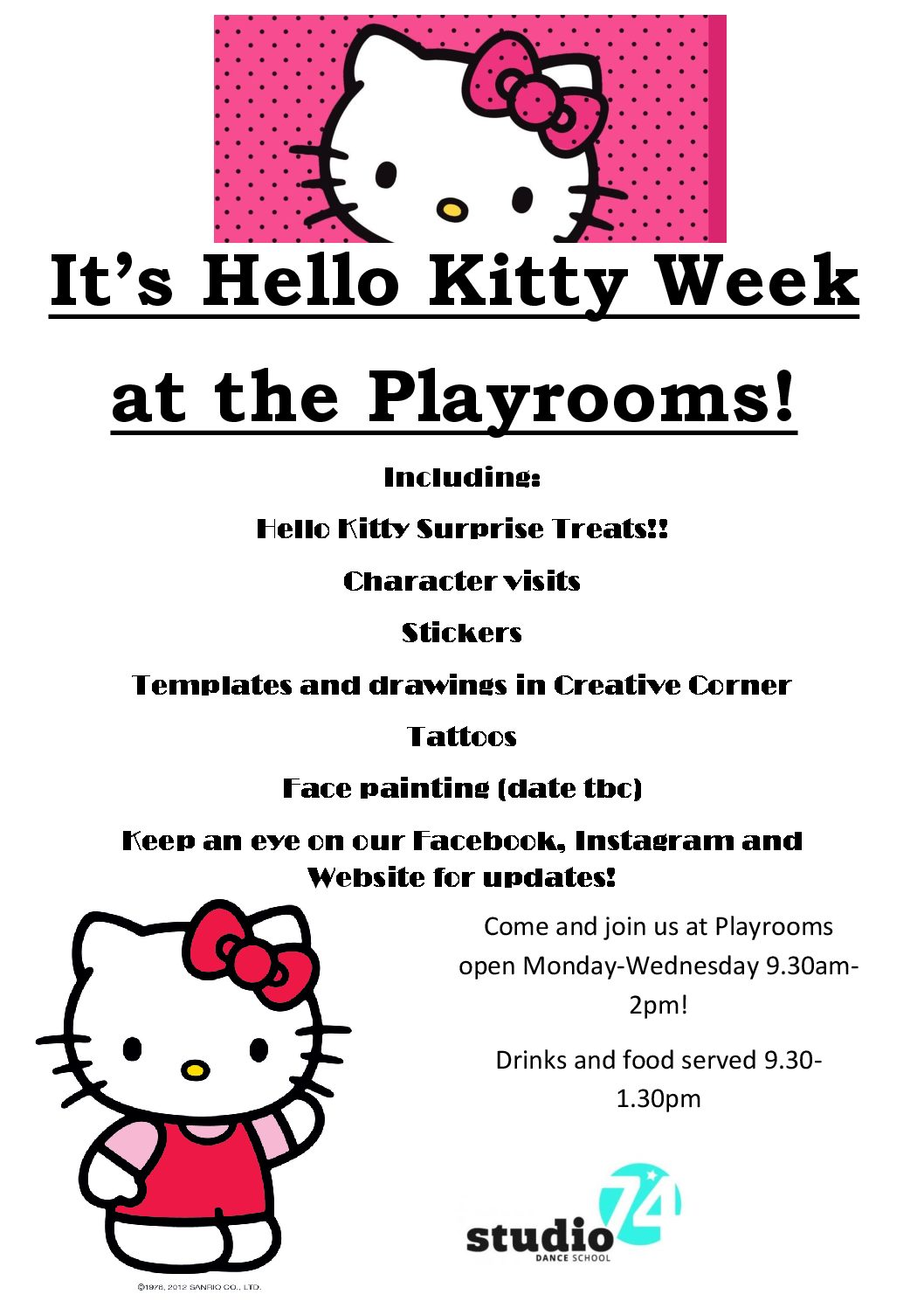 Hello Kitty at The Playrooms