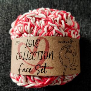 The Kind Earth Cro-op - Love Collection facecloth set