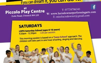 Lucie Downer Performing Art – Saturday  Fame School Open Day