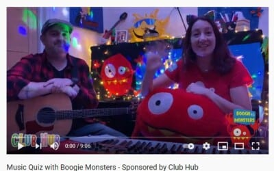 Music Quiz with Boogie Monsters – Sponsored by Club Hub