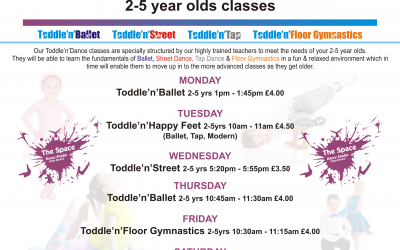 Toddle'n'Gymnastics 2-5 year olds